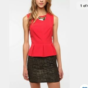 Urban Outfitters ❤️ Kimchi Blue Elegant Red Top